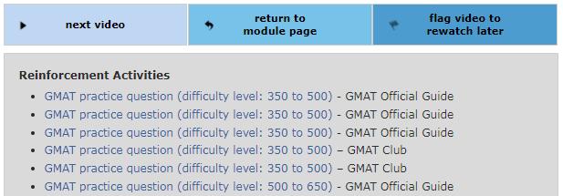 GMAT Reinforcement Activities